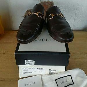 Gucci Shoes - Men's Gucci Horsebit Lamb Fur Lined Princetown
